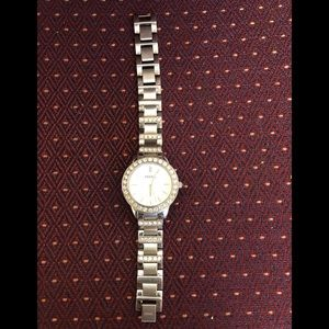 Ladies Fossil watch silver